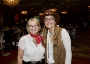 Christine Melton, Event Coordinator with Leisa Duff, Executive Director